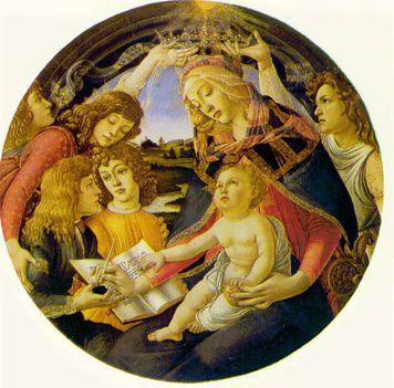 Botticelli - Madonna a kisdeddel