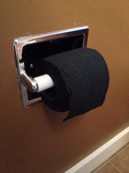 Fekete wc papír
