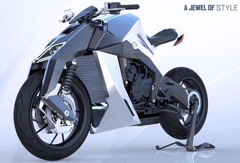 művészi motorkerékpár
