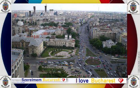 Bucuresti madártávlatból a Hotel Intercontinental tetejéről