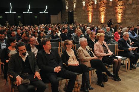 a közönség a díj átadón