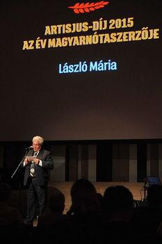 László Mária, Artisjus dijban részesült 2015 április 21-én