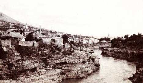 Bosznia-Hercegovina, Mostar város látképe (forrás, fortepan)