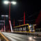 A kedd éjszakai futópróba során átkelt a 2202-es CAF a Dunán - A Rákóczi hídon (fotó Vörös Attila. iho.hu - 2015)