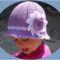 Levendula horgolt kalap