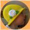 Sárga horgolt nyári kalap