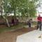 Tereprendezés a templom és a plébánia udvarán 3