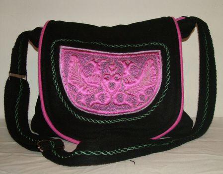 fekete,pink tarisznya