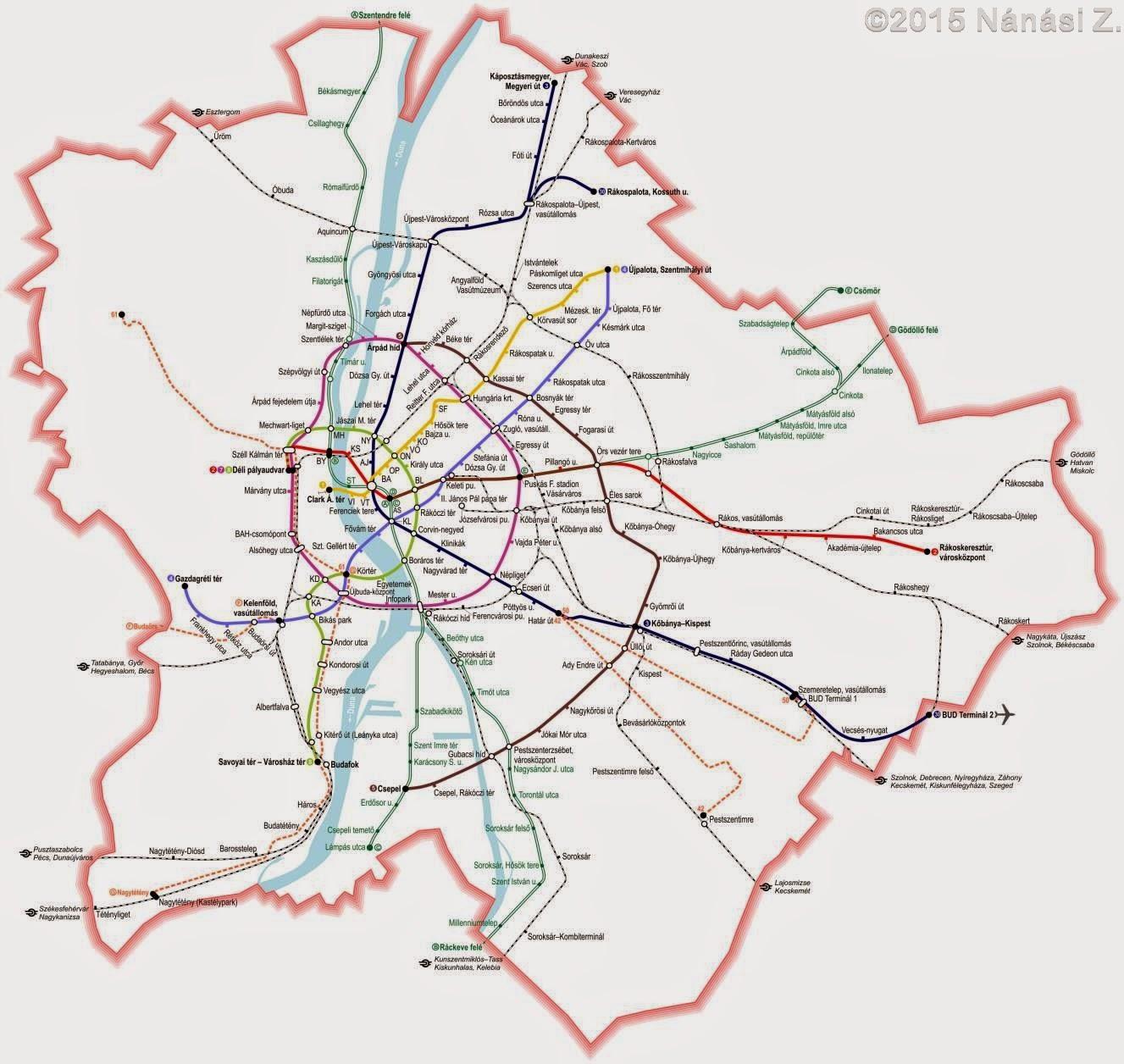 metróhálózat térkép budapest Közlekedés: A budapesti metróhálózat a fejlesztési tervek fényében  metróhálózat térkép budapest