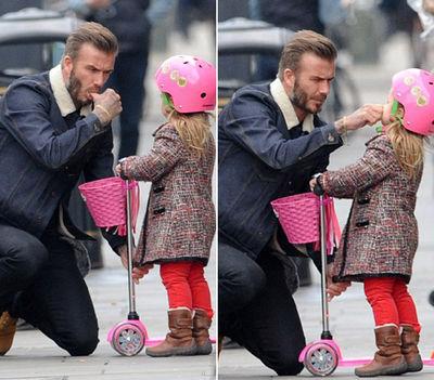 Harper és David Beckham és a roller