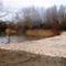 Rajka, a Mosoni-Duna vízpótlását adó Jónási mellékág a Kertész-gátnál, 2015. január 12.-én