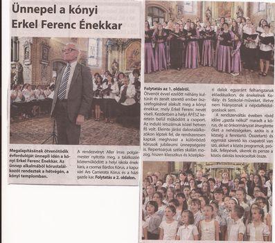 Az Énekkar jubileumi koncertje, 2015.