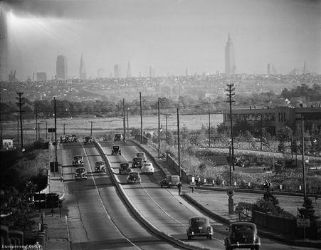 Andreas Feininger - A képen a Manhattani városkép látszik, New Jersey felől nézve. (fotó Europress-Getty)