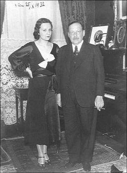 Kálmán Imre és felesége Vera