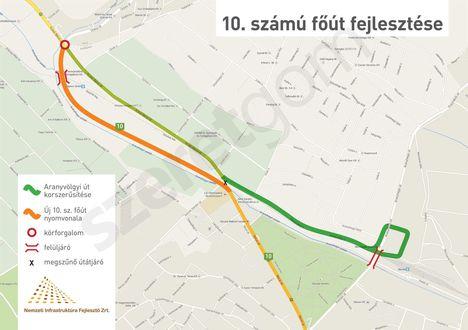 10. számű főút fejlesztése - 2015 (iho.hu)
