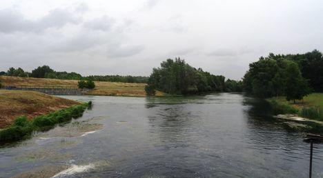 Rajka, Szivárgó csatorna az I. és a II.zsilip alvízénél, 2015. július 14.-én