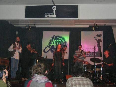 Fabatka a Magyar Jazz Ünnepén, Budapest Jazz Club 2009 márc. Énekes: Gerák Andrea