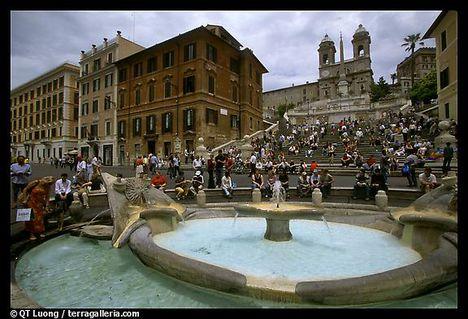 Fontana della Barcaccia és a spanyol lépcső - Róma