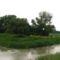 Lajta bal parti csatorna és a Lajta Öszekötő-csatorna egy kisebb árhullámnál, 2015. május 25.-én