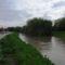 Lajta folyó egy kisebb árhullámnál, 2015. május 26.-án Lúcsonyban