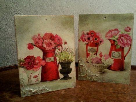 Tavaszi virágok - faliképek (alapanyag pléhlemez)