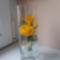rózsa pohárban