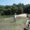 Kisbodak, a Szent Kristóf híd a hullámtéri vízpótlórendszerben, 2015. augusztus 07.-én