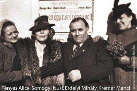 Erdélyi Mihály híres színésznőkkel