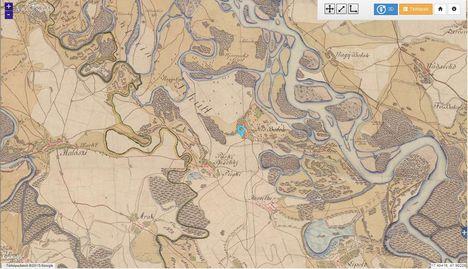 Kisbodak a Habsburg Birodalom Történelmi Térképein, Első Katonai Felmérés 1763-1787