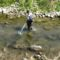 Lajta Balparti csatorna, Mosonmagyaróvár, Lajta folyó, a duzzasztómű alvízi szakaszán és a hallépcsőben a a halak mozgásának a vizsgálata 2015. szeptember 01.-én