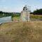 Lajta folyó főmeder, Hegyeshalom a Márialigeti fenékleürítő műtárgynál, 2015. augusztus 10.-én