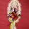 Csuhévirágok saját készítésű makramé alapon