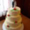 Négy emeletes esküvői torta