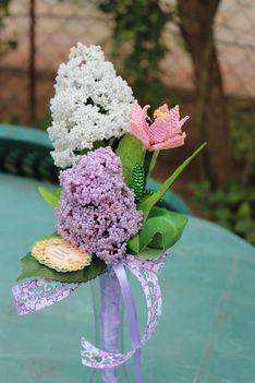 orgona és tulipán csokor