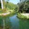 Mosoni-Duna Mosonmagyaróvári duzzasztómű, az Aranyosszigeti halátjáró (Szivárgócsatorna) az Aranyosszigeti csatorna torkolatánál  2015. október 01.-én