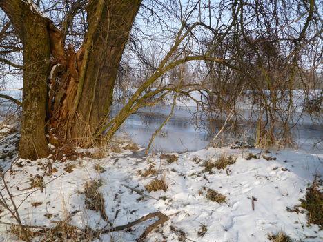 Rétárok csatorna (Márialiget határában)  téli viszonyok között, 2010. december 21.-én 1
