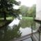Lajta folyó főmedre, Hegyeshalom a Márialigeti vízerőtelep felvízi oldalán, 2015. október 07.-én
