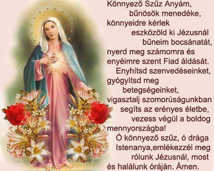 Ima a máriapócsi könnyező Szűz Anyához