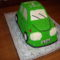 Zöld autó torta