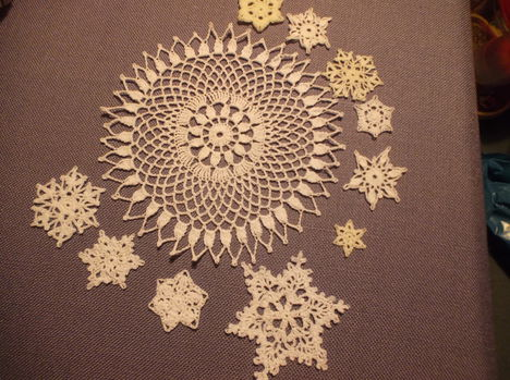 Terítő, csillag, hópehely