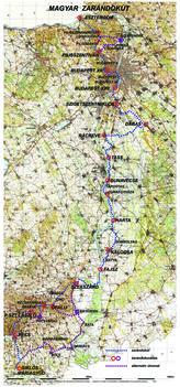 a magyar zarándokút térképe (magyar Camino)