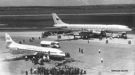 Caravelle és TU 114 az előtéren