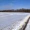 Hó lepte az árvízvédelmi töltést ( az 1954. évi Ásványrárói szakítás környékén), 2015. január 26.-án