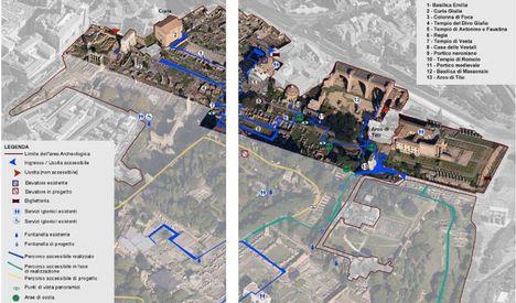 Akadálymentes utak térképe a Forum Romanumon2 b