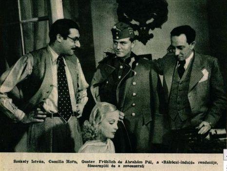 Ábrahám Pál (jobb oldalt)  és Székely István rendező (bal oldalt) 1933
