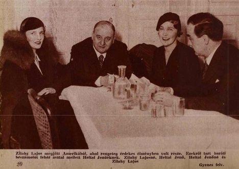 Heltai Jenő dalszövegíró, librettista barátaival 1933