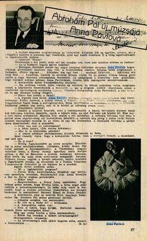 Interjú Ábrahám Pállal 1933