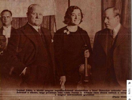 Lehár Ferenc Kálmán Imre 1933