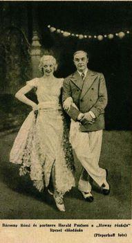 Bársony Rózsi Ábrahám Pál Hawaii rózsája operettje berlini premierjén