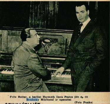 Brodszky Miklós operettjét gyakoroltatja